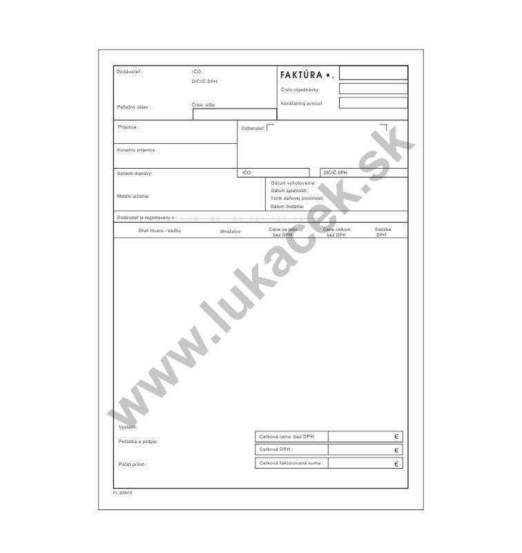 Stitkysk Faktúra Daňový Doklad Výrobné štítky Eloxované štítky
